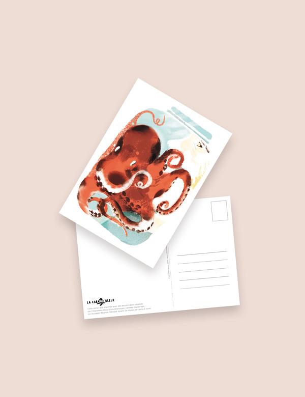 Carte postale – Charles et moi