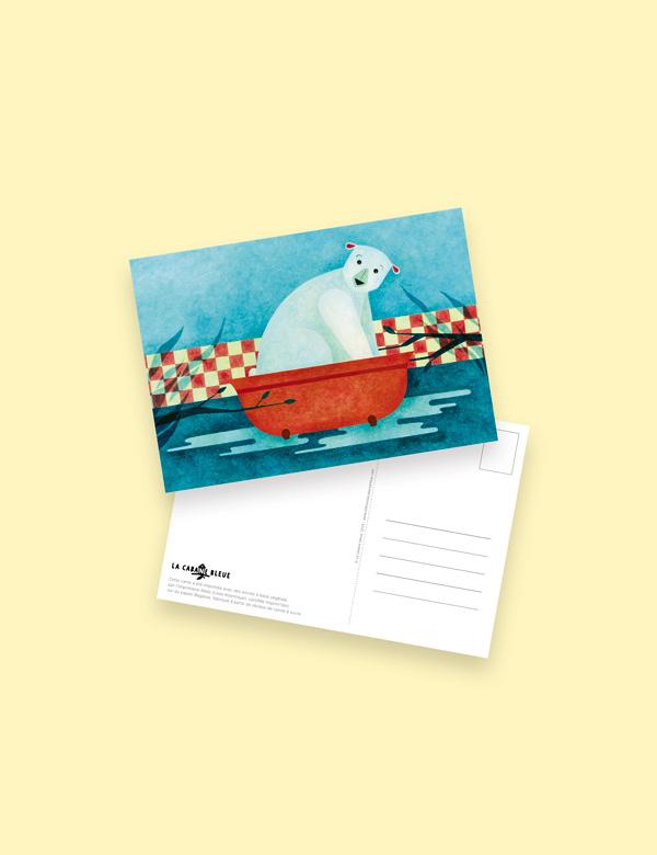 Carte postale – Il y avait une maison