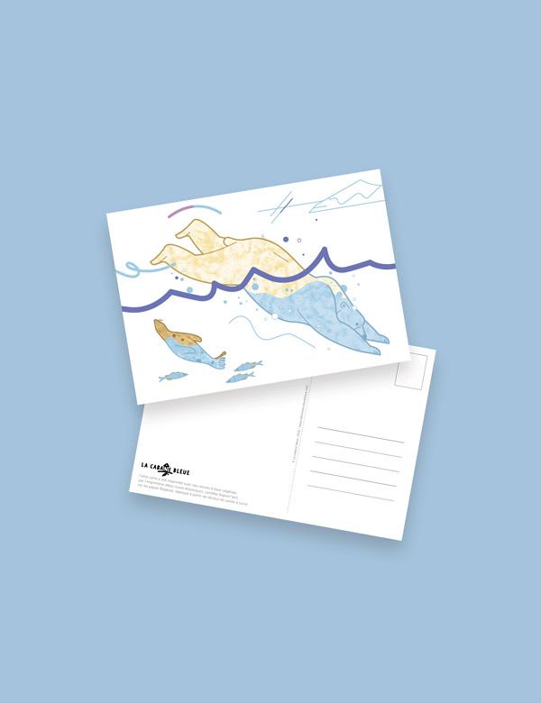 Carte postale – Suis du doigt l'ours polaire