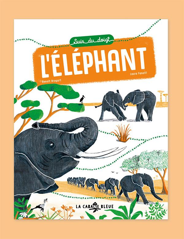 Suis du doigt l'éléphant